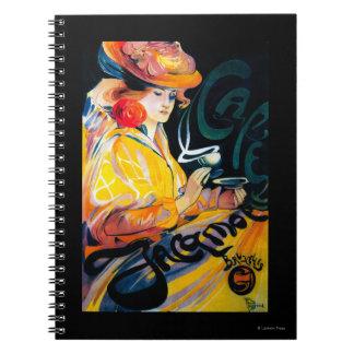 Jacqmotte Caf� Vintage PosterEurope Notebooks