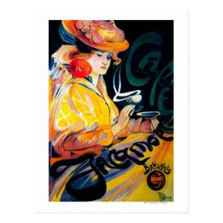 Jacqmotte Caf� Vintage PosterEurope Postcard