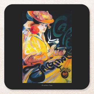 Jacqmotte Caf� Vintage PosterEurope Square Paper Coaster