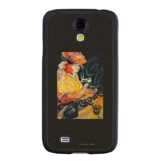 Jacqmotte Caf� Vintage PosterEurope Carved® Maple Galaxy S4 Slim Case