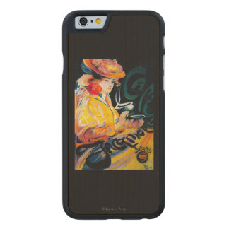 Jacqmotte Caf� Vintage PosterEurope Carved® Maple iPhone 6 Case