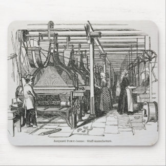 Jacquard Power Looms (engraving) Mouse Pad
