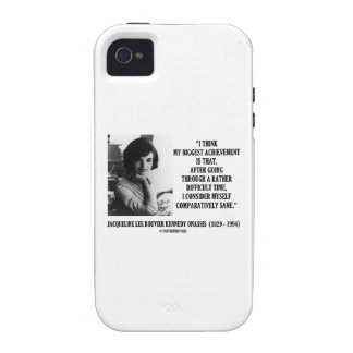 Jacqueline Kennedy Comparatively Sane Quote Case-Mate iPhone 4 Covers