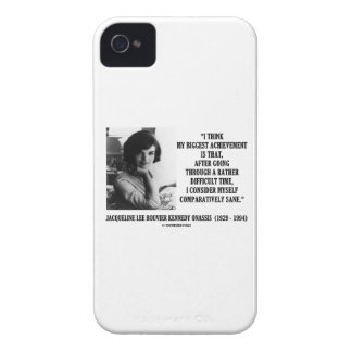 Jacqueline Kennedy Comparatively Sane Quote iPhone 4 Covers