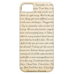 Jacqueline Kennedy's letter to John F. Kennedy iPhone 5 Cases