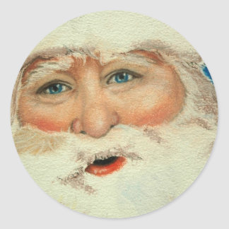Jacqueline Veltri's Santa Classic Round Sticker