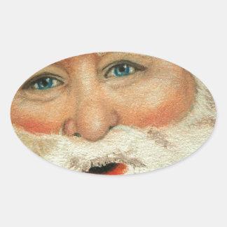 Jacqueline Veltri's Santa Oval Sticker