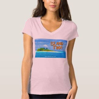 Jacqueline Victoria Ladies V-Neck Logo Shirt