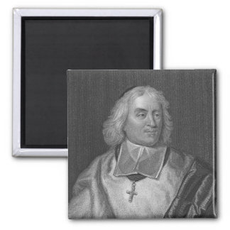 Jacques Bossuet, engraved by Richard Woodman 2 Inch Square Magnet