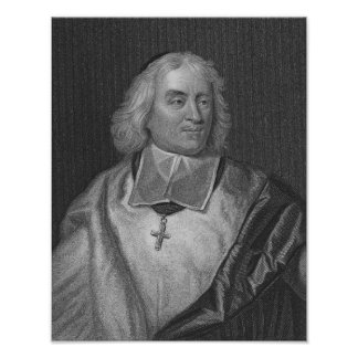 Jacques Bossuet, engraved by Richard Woodman Poster
