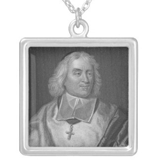Jacques Bossuet, engraved by Richard Woodman Square Pendant Necklace