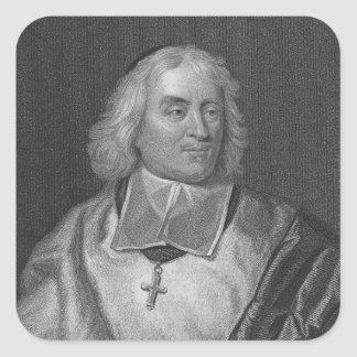 Jacques Bossuet, engraved by Richard Woodman Square Sticker