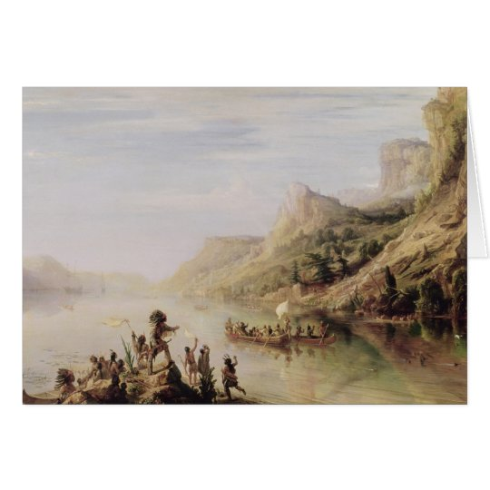 Jacques Cartier Discovering the St. Lawrence Card