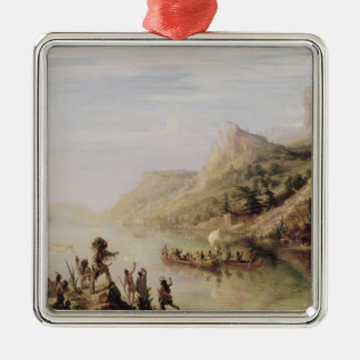 Jacques Cartier Discovering the St. Lawrence Metal Ornament