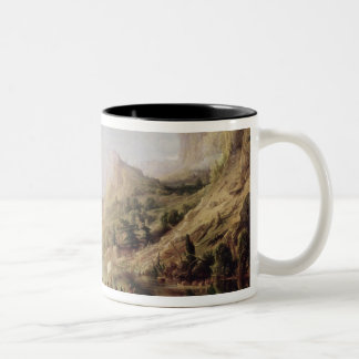 Jacques Cartier Discovering the St. Lawrence Two-Tone Coffee Mug