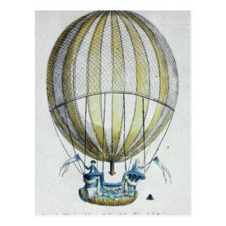 Jacques Charles and Nicholas Robert's  Balloon Postcard