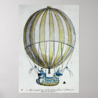 Jacques Charles and Nicholas Robert's  Balloon Poster