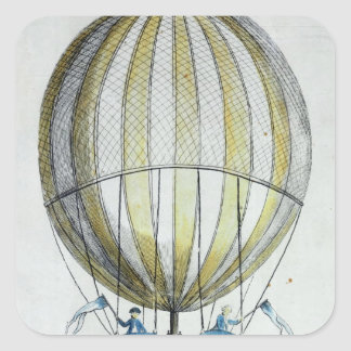 Jacques Charles and Nicholas Robert's  Balloon Square Sticker