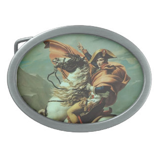 Jacques-David- Napoleon Crossing the Alps Oval Belt Buckle