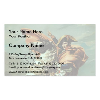 Jacques-David- Napoleon Crossing the Alps Business Card