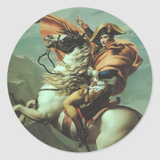 Jacques-David- Napoleon Crossing the Alps Stickers