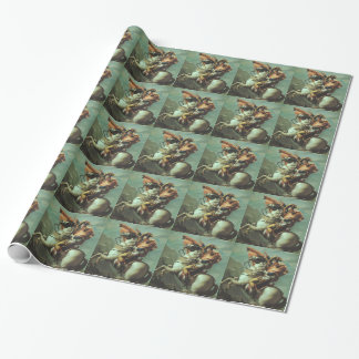 Jacques-David- Napoleon Crossing the Alps Gift Wrapping Paper