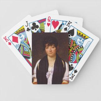 Jacques David-Portrait of Suzanne de Saint Fargeau Bicycle Playing Cards