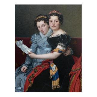Jacques David-Sisters Zenaide,Charlotte-Bonaparte Postcard