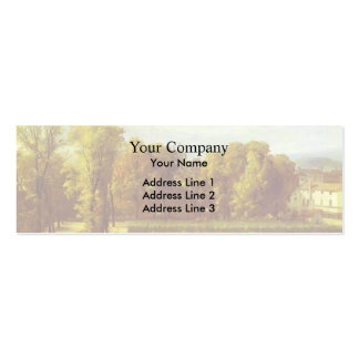 Jacques David- View of the Luxembourg Gardens Business Card Template