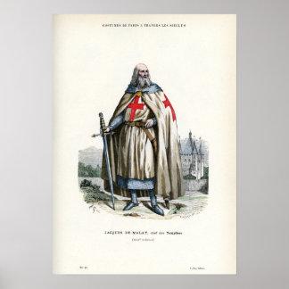 Jacques de Molay - Knight Templar Poster