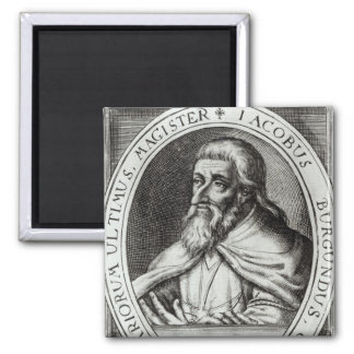 Jacques de Molay  Master of Knights Templars 2 Inch Square Magnet