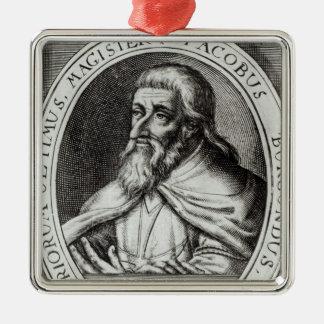 Jacques de Molay  Master of Knights Templars Metal Ornament