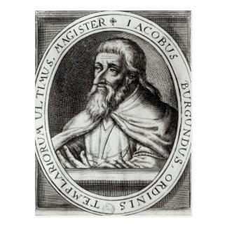 Jacques de Molay  Master of Knights Templars Postcard