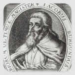 Jacques de Molay  Master of Knights Templars Square Sticker