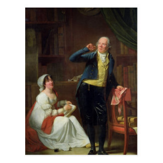 Jacques Delille  and his Wife, 1802 Postcard
