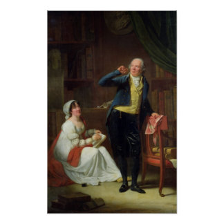 Jacques Delille  and his Wife, 1802 Print