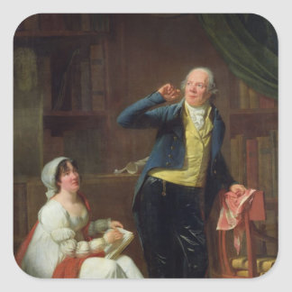 Jacques Delille  and his Wife, 1802 Square Sticker