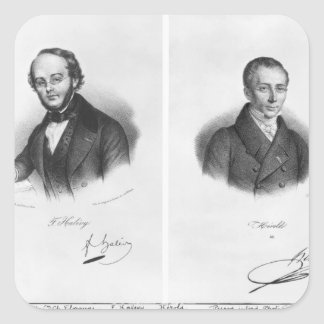 Jacques Fromental Halevy  and Ferdinand Herold Square Sticker