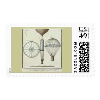 Jacques Garnerin's first parachute Postage