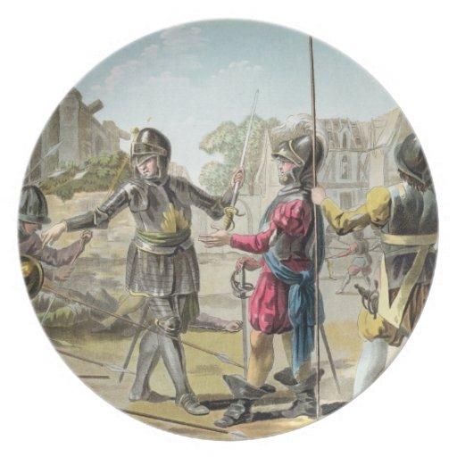 Jacques IL Goyon, señor de Matignon, toma Montgome Platos De Comidas