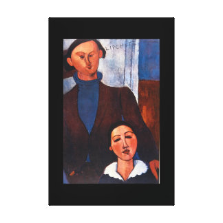 Jacques Lipchitz and his Wife_Portraits Canvas Print