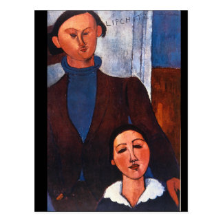 Jacques Lipchitz and his Wife_Portraits Postcard