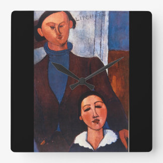 Jacques Lipchitz and his Wife_Portraits Square Wall Clock