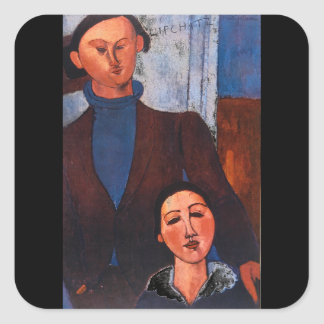 Jacques Lipchitz and his Wife_Portraitss Square Sticker