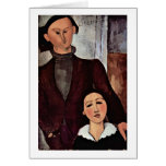 Jacques Lipchitz And Wife By Amedeo Modigliani Greeting Card
