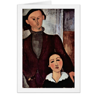 Jacques Lipchitz And Wife By Amedeo Modigliani Card