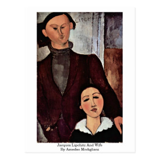 Jacques Lipchitz And Wife By Amedeo Modigliani Postcard