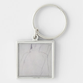 Jacques Lipchitz  c.1917 Silver-Colored Square Keychain