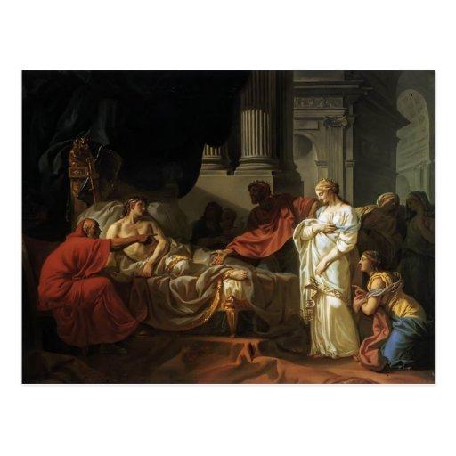 Jacques-Louis David Antiochus y Stratonice Tarjeta Postal