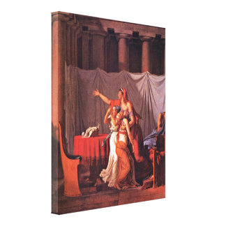 Jacques-Louis David - Brutus bring his sons Stretched Canvas Print